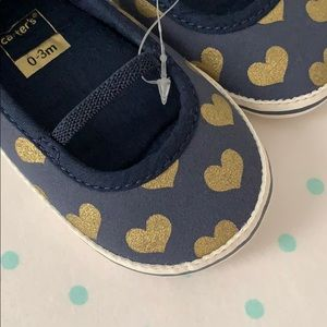 Carter's Shoes - Carter's navy and gold baby shoes